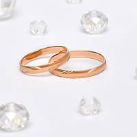 Золотые Обручальные кольца с алмазной гранью