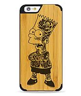 """Деревянный чехол с гравировкой для Apple iPhone 6 """"Bart Simpson"""""""