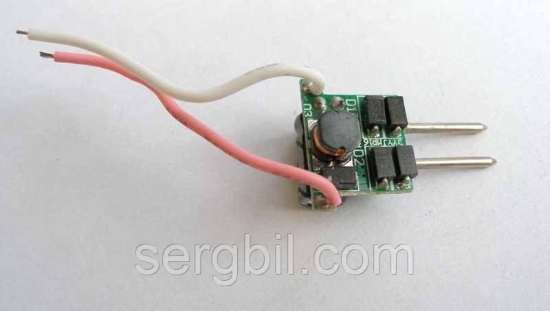 LED driver 1-3х1W 300mA, питание 12-16V AC/DC без корпуса