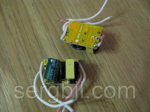 LED driver 1-3х1W 280-300mA, питание 90-260V, без корпуса
