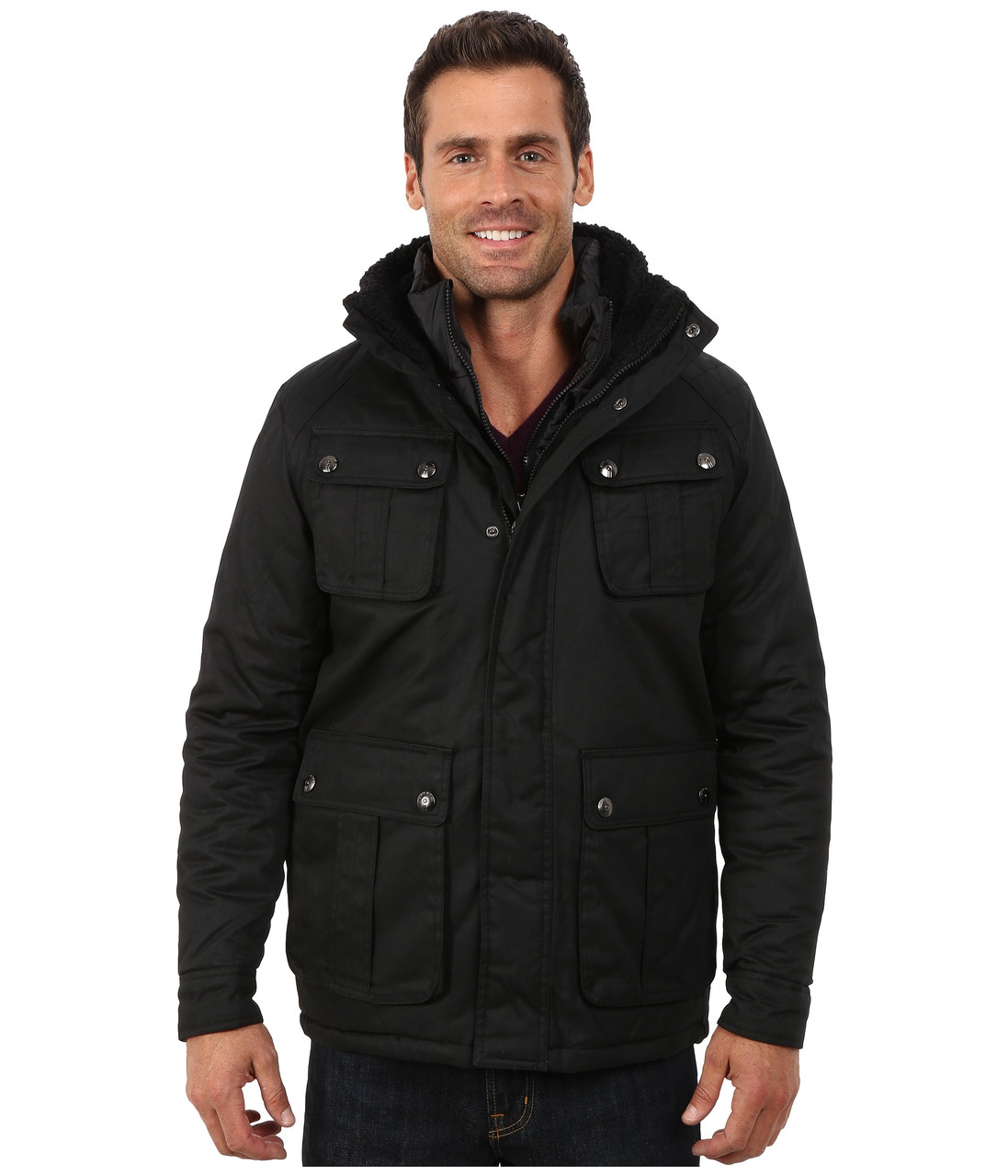 Куртка Steve Madden, XXL, Black, OMA050H