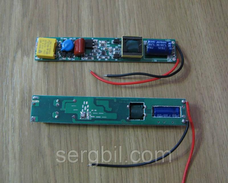 Драйвер LED ламп T5,Т8 12-24Вт 200мА 45-82В, питание 85-265В,  без корпуса IP00