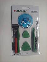Набор BAKKU BK-6007 7 в 1 (Отверки: Т4, Т5, присоска, 2 лопатки для  разборки корпусов, 2 шпателя)
