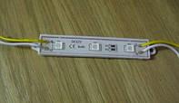 Светодиодный модуль 0,72Вт, желтый 590нм, 3 х 5050 SMD, в корпусе, питание 12В, 60мА,  влагозащита IP67