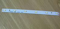 Светодиодная сборка линейная 3W 6000K из 6 smd 5730 (50-55лм)  на ал. пластине 195x12мм , фото 1
