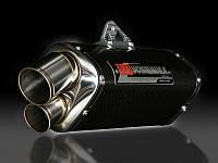 Глушитель Yoshimura EEC (Slip-On) Tri-Oval Suzuki GSX-R750/600K8-10' карбоновое покрытие (Dual exit)