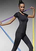 Спортивная футболка женская для фитнеса Electra TM Bas Bleu (Польша) Цвет черный