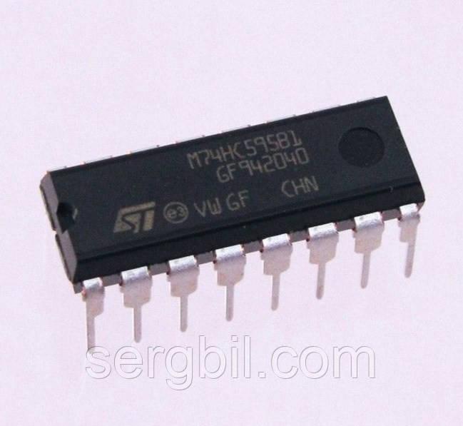 Микросхема 74HC595 DIP16 - цифровая логика