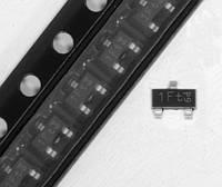Транзистор биполярный BC847B - SOT23, n-p-n, 45В, 100мА, фото 1