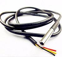 DS18B20 датчик температуры цифровой -50 - 150С, 1-Wire, герметичный с проводом