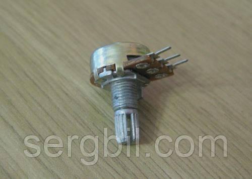 WH148 Резистор переменный линейный 20к, вал 15мм