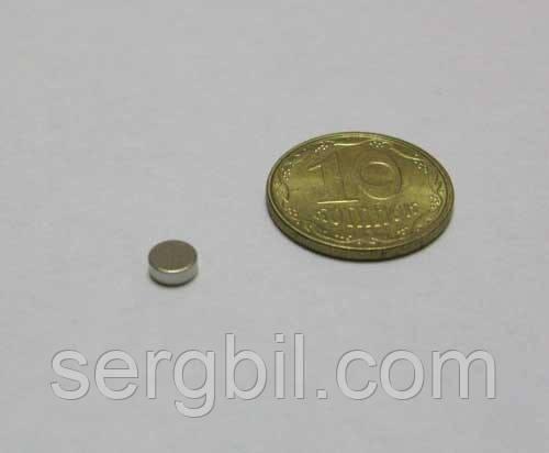 Неодимовые магниты таблетка d3x1, N42,сила -200г