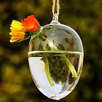 Ваза подвесная стеклянная - Элипс 12 см V006
