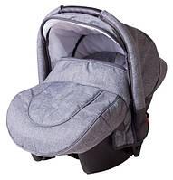 Детское автокресло Adamex CARLO светло-серый лен