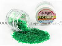 Блёстки Magic Sparkles - Green - Зелёный , фото 1