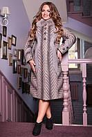 Женское зимнее пальто больших размеров (р. 48-62) арт. 609 Тон 111