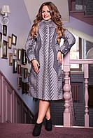 Женское зимнее пальто больших размеров (р. 48-62) арт. 609 Тон 100