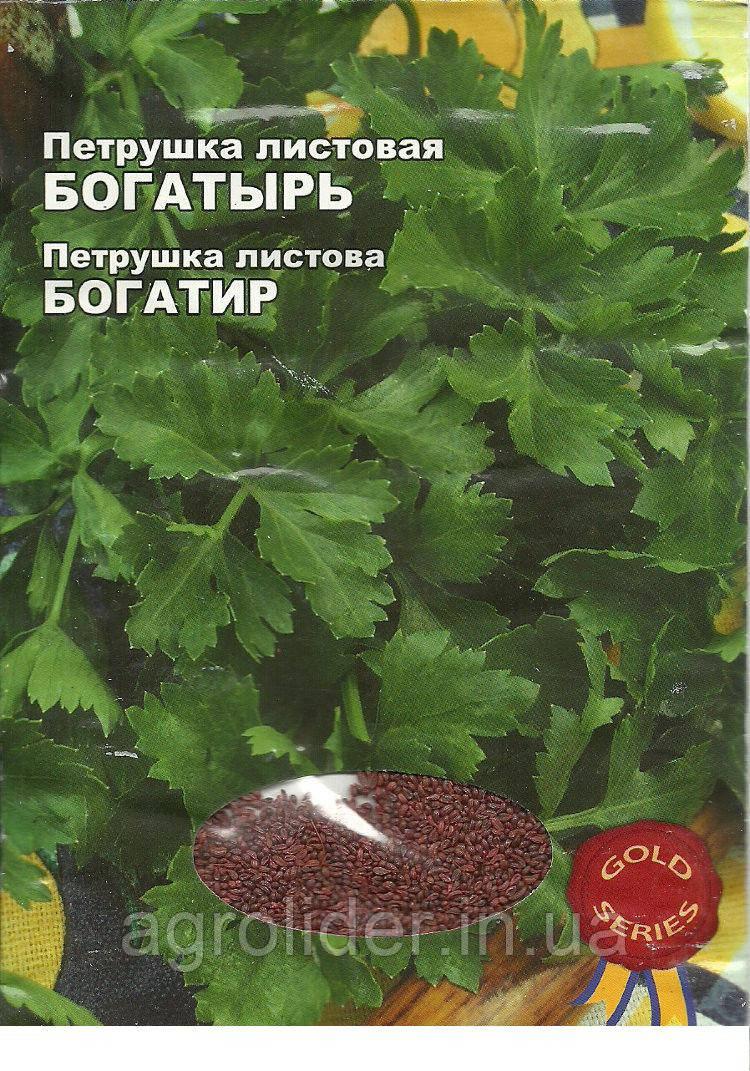 Семена петрушка Богатырь Gold 10г Зеленая (Малахiт Подiлля)