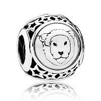 Шарм Лев знак зодиака из серебра 925 пробы пандора (pandora)