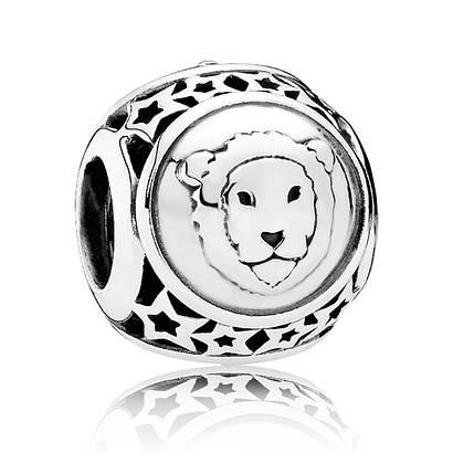 Шарм Лев знак зодиака из серебра 925 пробы