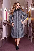 Женское зимнее пальто больших размеров (р. 48-62) арт. 609 Тон 108