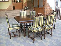 Античний столовий стіл + 6 стільців (2359)