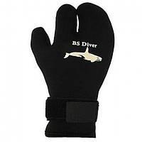 """Перчатки трёхпалые BS Diver """"PROFESSIONAL KEVLAR"""" 7mm XXL, черный"""