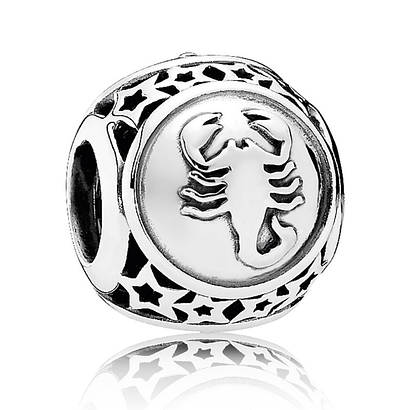 Шарм Скорпион знак зодиака из серебра 925 пробы