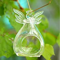 Ваза подвесная стеклянная - Ангел 11 см V008