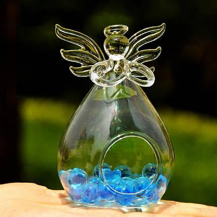 Ваза подвесная стеклянная - Ангел 11 см V008, фото 2