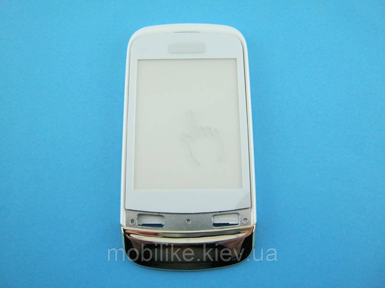 Сенсорный экран Nokia C2-02/C2-03 белый с рамкой