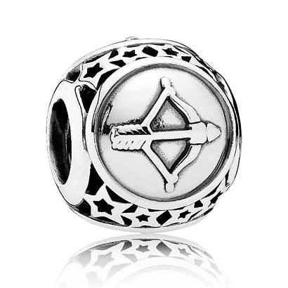 Шарм Стрелец знак зодиака из серебра 925 пробы