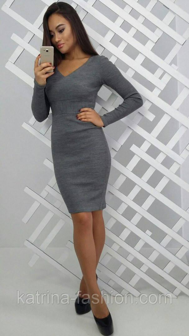 Женское модное вязанное платье (3 цвета)