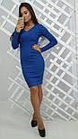 Женское модное вязанное платье (3 цвета), фото 3