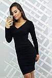Женское модное вязанное платье (3 цвета), фото 5