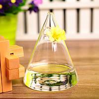 Ваза подвесная стеклянная - Пирамида 11*8 см V009