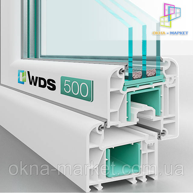 Окно ВДС 500, вид профиля в разрезе