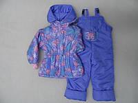 Демисезонные комбинезоны девочкам от 6 мес до 5 лет утеплены флисом, с манжетами в рукавах и штанинах