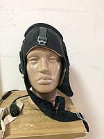 Шлемофон летный кожаный СССР с гарнитурой