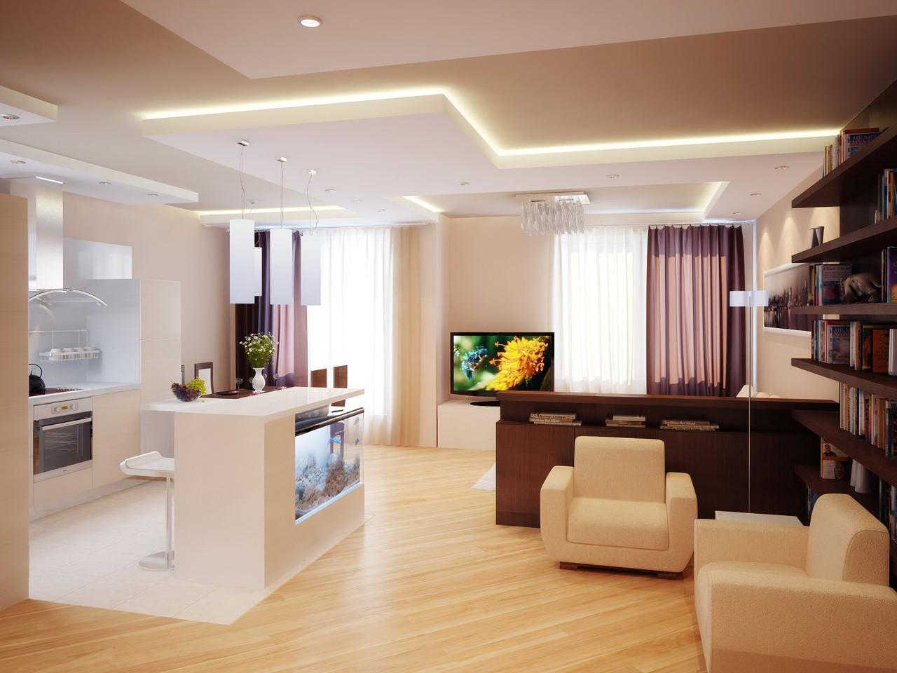 Дизайн квартиры-студии в Харькове