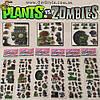 """Набор наклеек Plants vs Zombies  - """"Plants Set"""" - 120 шт."""
