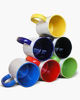 Чашка сублимационная Кобальт (темно-синий) 330мл (цветная внутри и цветная ручка)