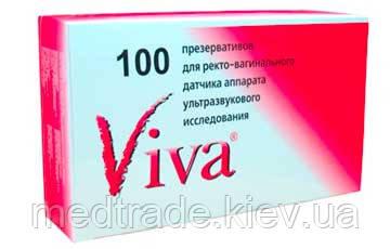 ПРЕЗЕРВАТИВЫ ДЛЯ УЗИ VIVA (100 ШТ.)
