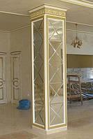 Зеркальное панно 424х2545 серебро фацет 15мм (плитка 300 мм)