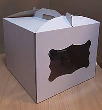 Коробка для торта 28х28х30 см (с окошком)