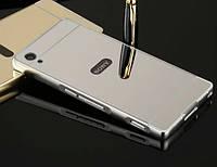 Чехол бампер для Sony Xperia Z1 C6902 зеркальный БРАК