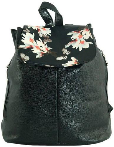 Интересный рюкзак из искусственной кожи 13 л. Traum 7229-14, черный