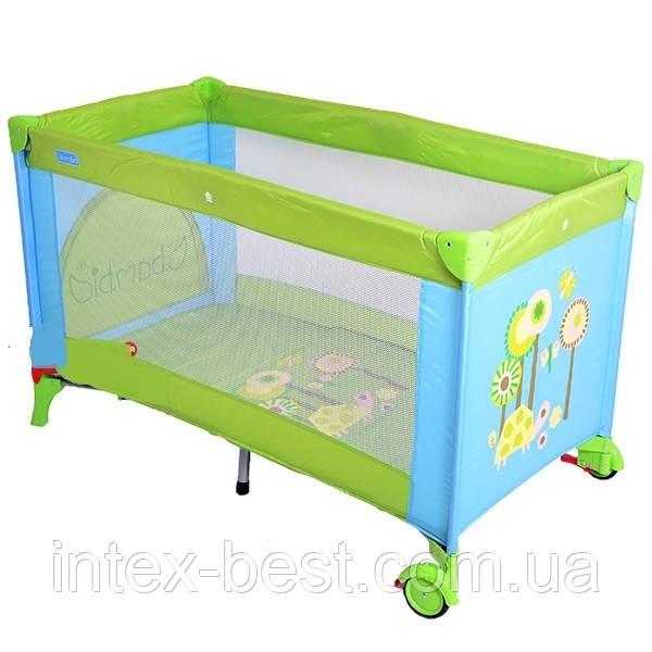Кровать-манеж Bambi (Metr+) M 1601 Зелено-голубой