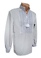 Вышиванка рубашка украинская мужская льон, большие размеры