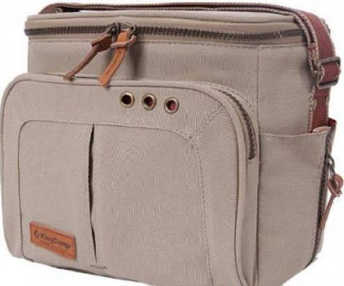 Качественная сумка-холодильник KINGCAMP COOLER BAG 5л (KG3795) Brown, коричневый